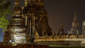 Ayutthaya Thailand at Night Stock Images