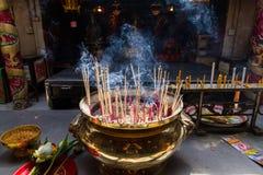 Ayutthaya, Thailand - October, 21, 2016 : Burning Joss on Large Royalty Free Stock Images