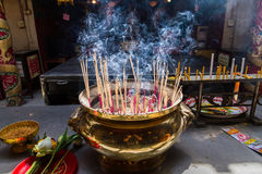 Ayutthaya, Thailand - October, 21, 2016 : Burning Joss on Large Royalty Free Stock Photography
