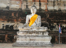 Ayutthaya, THAILAND - Oktober 24: Oude Tempelarchitectuur, Wat Yai Chai Mongkol Stock Foto
