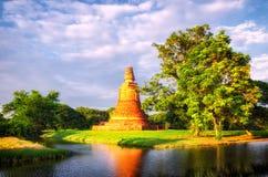 Ayutthaya (Thailand) old ruins Royalty Free Stock Photo