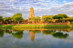 Ayutthaya (Thailand), old temple ruins Royalty Free Stock Images