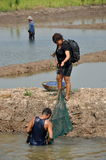 Ayutthaya, Thailand: People with Nets Fishing Stock Photography