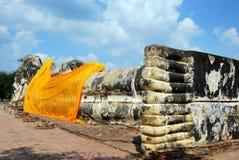 Ayutthaya, Thailand: Reclining Buddha Stock Images