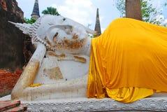 Ayutthaya-THAILAND: Ruïnes van het klooster, ruïnes van oud p Stock Foto