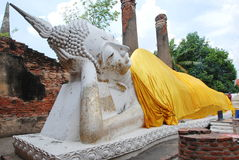 AYUTTHAYA-THAILAND- : Ruins of the monastery, ruins of the old p Royalty Free Stock Image