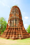 AYUTTHAYA-THAILAND- : Ruins of the monastery, ruins of the old p Royalty Free Stock Images