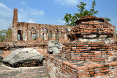 Ayutthaya, Thailand: Ruins of Wat Gudidao Royalty Free Stock Photos