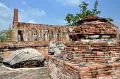Ayutthaya, Thailand: Ruins of Wat Gudidao Royalty Free Stock Photos