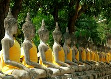 Ayutthaya, Thailand: Temple Buddhas Royalty Free Stock Photography
