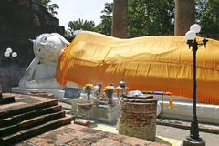 Ayutthaya, Thailand. Vihara of the Reclining Buddha at Wat Yai Chai Mongkhon or the Great Monastery of Auspicious Victory in Ayutthaya, Thailand, Asia Royalty Free Stock Photo