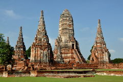 Ayutthaya, Thailand: Wat Chai Watthanaram Royalty Free Stock Photo