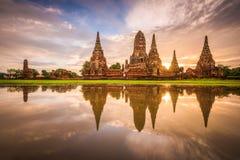 Ayutthaya, Thailand at Wat Chaiwatthanaram Royalty Free Stock Images