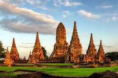 Ayutthaya (Thailand) Wat Chaiwatthanaram temple Royalty Free Stock Images