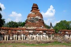 Ayutthaya, Thailand: Wat Maheyong Chedi Royalty Free Stock Image