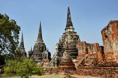 Ayutthaya, Thailand: Wat Phra Si Sanphet Stock Photography