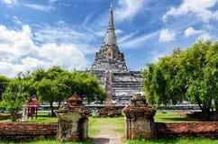 Ayutthaya (Thailand) Wat Phu Khao Thong Royalty Free Stock Photography