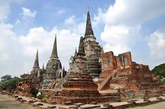 Ayutthaya, Thailand: Wat Prah Si Sanphet Stock Photography