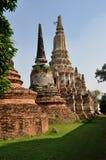 Ayutthaya, Thailand: Wat Putthai Saman Chedis Stock Photography