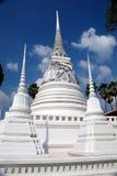 Ayutthaya, Thailand: Wat Suwandararam Chedis Royalty Free Stock Photos