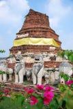 Ayutthaya, Thailand: Wat Tummickarat Ruins Stock Photo