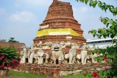 Ayutthaya, Thailand: Wat Tummickarat Ruins Royalty Free Stock Images