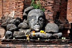 Ayutthaya, Thailand: Wat Worachet Thep Banrung Stock Photos