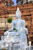 Ayutthaya, Thailand: Wat Yai Chai Mongkhon Buddhas Stock Photo