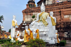 Ayutthaya, Thailand: Wat Yai Chai Mongkon Royalty Free Stock Photo