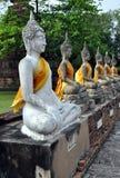 Ayutthaya, Thailand: Wat Yai Chai Mongkon Buddhas Royalty Free Stock Photography