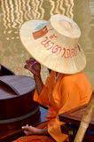 Ayutthaya, Thailand: Woman at Floating Market Stock Photography