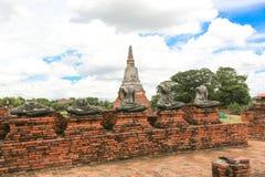 Ayutthaya världsarv Arkivfoto