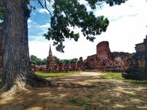 Ayutthaya van de Geschiedenis van Thailand van Thaise mensen Historische stad royalty-vrije stock afbeelding