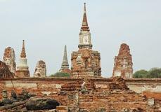 Ayutthaya - Wat Phra Sri Sanphet - la Tailandia Fotografia Stock Libera da Diritti