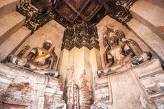ayutthaya柴wat watthanaram 免版税库存照片