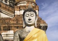 Ayutthaya   Wat Yai Chai Mongkon Stock Image