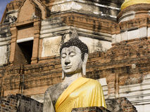 Ayutthaya   Wat Yai Chai Mongkon Stock Photos