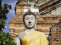 Ayutthaya   Wat Yai Chai Mongkon Royalty Free Stock Photo