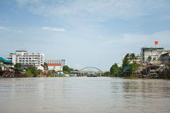 Ayutthaya from water Royalty Free Stock Photography