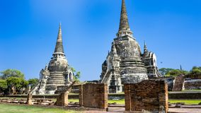 Ayutthaya which is one of the world heritage list. Ayutthaya and the temple, Historic City of Ayutthaya which is one of the world heritage list. The city founded royalty free stock image