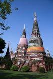 Ayutthaya World Heritage Site. AYUTTHAYA,THAILAND-Ayutthaya World Heritage Site, old pagoda and image of buddha be ruined more than 500 years Stock Photo