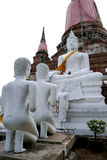 Ayutthaya World Heritage Site. AYUTTHAYA,THAILAND-Ayutthaya World Heritage Site, old pagoda and image of buddha be ruined more than 500 years stock photos
