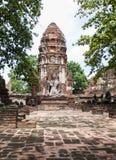 Ayutthayabezoek Thailandia Stock Afbeelding
