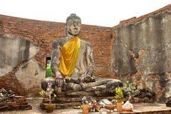 ayutthayabuddha enorm staty thailand Royaltyfria Foton