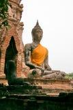 ayutthayabuddha gammal staty thailand Arkivbild
