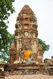 ayutthayabuddha gammal staty thailand Arkivfoto