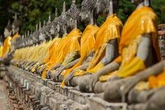 ayutthayabuddha staty Arkivbild