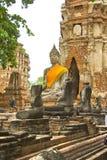 ayutthayabuddha staty thailand Royaltyfri Fotografi