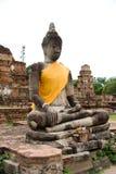 ayutthayabuddha statyer thailand Arkivfoto