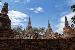 ayutthayaen fördärvar Arkivbilder